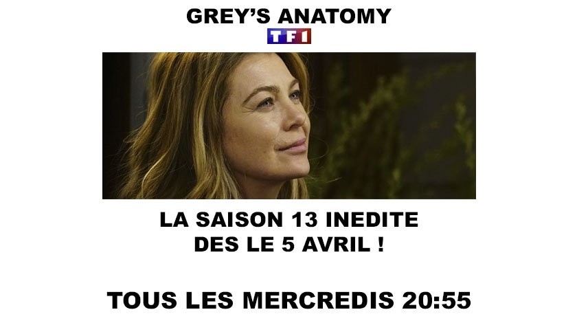 Grey's anatomy saison 13 tf1