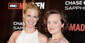 January Jones et Elisabeth Moss