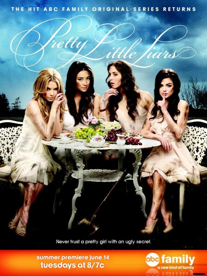 Pretty Little Liars - affiche promo saison 2