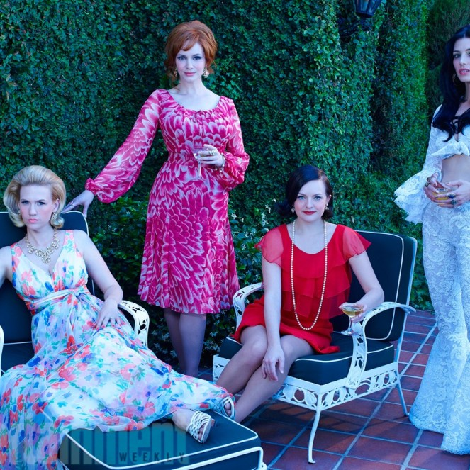 Mad Men - January Jones, Christina Hendricks, Elizabeth Moss et Jessica Paré